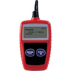 Hyper Tough OBDII CAN Code Reader, Red