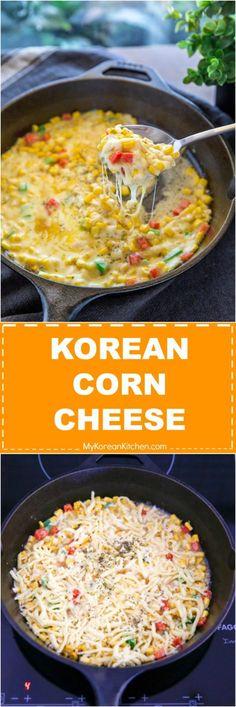 How to Make Korean Corn Cheese. It's a trendy and popular Korean appetizer! | MyKoreanKitchen.com via @mykoreankitchen