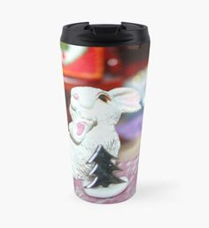 White Rabbit Christmas Travel Mug Christmas Travel, Christmas Art, Beard Winter, Snowy Trees, Winter Fairy, Green Palette, Winter Landscape, Winter Time, Yule