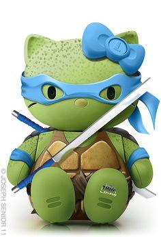 Hello Mutant Ninja Turtles Leonardo by yodaflicker, via Flickr