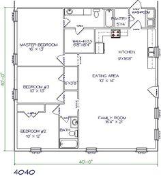 Metal building houses on pinterest metal building house for 28x32 floor plan