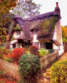 Such a sweet and cosy Cottage somewhere in the UK. Cottage In The Woods, Cozy Cottage, Cottage Homes, Cottage Style, Irish Cottage, Storybook Homes, Storybook Cottage, Fairytale Cottage, Garden Cottage