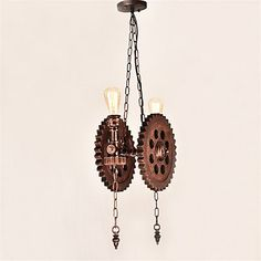 RYr Pendant Light  RusticLodge Vintage Retro Painting Feature for Mini Style Metal Dining Room Kitchen Entry Hallway Garage  110120v * BEST VALUE BUY on Amazon-affiliate link