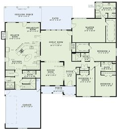 images about Floor Plans on Pinterest   Floor plans  House    Interesting kitchen keeping room breakfast nook layout  Plan W ND  Gourmet Kitchen