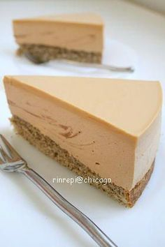 Caramel milk tea mousse cake - Pastry World Sweets Recipes, Easy Desserts, Yummy Eats, Yummy Food, Japanese Cake, Mousse Cake, Cafe Food, Pastry Cake, Tea Cakes