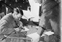 Adolf Hitler wearing spectacles in a censored photograph taken by Heinrich Hoffmann. The photograph was censored personally by Hitler - no photograph in spectacles was to be published.