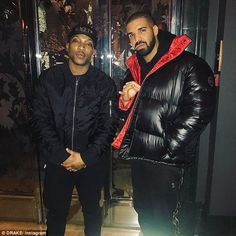 'Top boy in this s**t, I'm so international': Drake is now set to star in gritty British TV drama Top Boy, after he bought the rights to the show last year (pictured with Ashley Walters -left) So Solid Crew, Old Drake, Kung Fu Kenny, Hip Hop Classics, Mens Down Jacket, Ashley Walters, Down Coat, Hot Boys, Black History