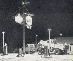 Gulf truck stop Harrisburg, PA 1940