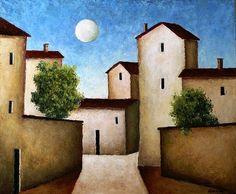 Mario Sironi (1885-1961, Italy) | Paesaggio Urbano, 1940