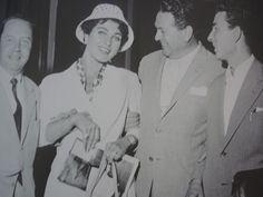 Silvana Pampanini e l'Avvocato Natale Graziani, inventore del Festival delle Voci Nuove di Castrocaro. Giugno 1958. #castrocarocolorseppia