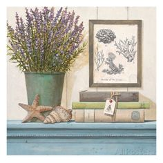 Seaside Lavender Kunstdruk