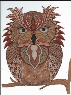 Did I mention I love Owls? These are tangled using templates from Ben Kwok.