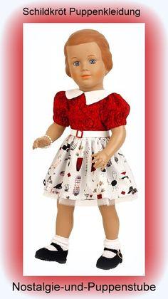 Schildkröt Puppenkleid mit rotem Oberteil für die 46... nur 45.90 EUR