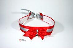 Choker Gothic Lolita Pastel Goth Red Collar by KawaiiRevolution