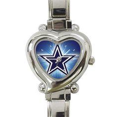 Dallas Cowboy Heart Italian Charm Watch by StevenGifts on Etsy, $10.99