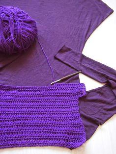 VMSomⒶ KOPPA: Ylhäältä alas - virkattu violetti mekko