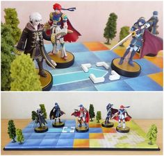 Fire Emblem amiibo display stand diorama by NBros on DeviantArt