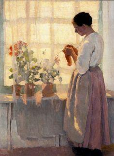 Clotilde, by Louis Paul Dessar (American painter, Images D'art, Tricot D'art, Knit Art, Art Et Illustration, Inspiration Art, Sewing Art, Paintings I Love, Love Art, Monet
