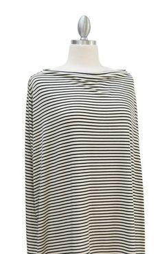 Black & Ivory Summer Stripe – Covered Goods Nursing cover