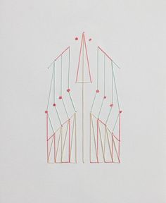 2014.- Bordado sobre papel. Embroidery on paper. 12 cm x 15 cm