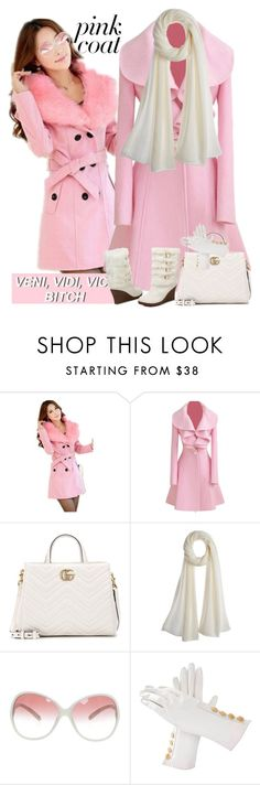 """Pink Coats"" by aida-ida ❤ liked on Polyvore featuring Gucci, Calypso St. Barth, Prada and Hermès"
