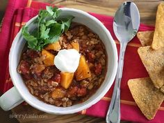 A quick and easy chili made with ground turkey, sweet potatoes and spices – the perfect weeknight meal. It has just the right amount of spice to compliment the sweet potatoes without being too spicy for those of you who prefer a milder chili (you can of course bump up the heat if you wish).  This is one of my favorite chili recipes which I came up with last year. Since it's chili weather now I thought I'd revive it from the archives.     I served this with some sweet potato chips which I…