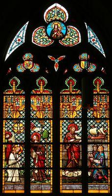 Doop van Jezus in der Jordaan, H. Johannes de doper -- by Atelier Frans Nicolas, 1878 -- in Servatius Basiliek, Maastricht, NL