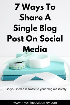 You've shared your blog post to FB, IG and Pinterest. Now what ?? Here are 7 ways you could be extending the half-life of your posts !