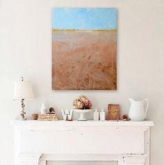 HARVEST original abstract modern painting  by linneaheideart