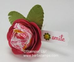 Stampin' Up! Spiral Flower Treat Holder by Barb M