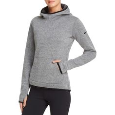 Nike Thermal Pullover Hoodie ($80) ❤ liked on Polyvore featuring nike