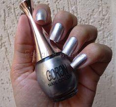 Esmaltemaníaca: Unha da Semana: Prata Goron Nail Color Prata Goron http://www.esmaltemaniaca.com.br/2013/08/unha-da-semana-prata-goron-nail-color.html  FP http://www.facebook.com/pages/Esmalte-Maníaca/223271664358917