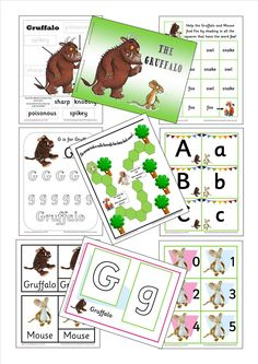 The Gruffalo Preschool Printables Pack - itsybitsylearners.com