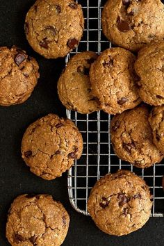 EatingWell reader Beverley Sharpe of Santa Barbara, California, contributed this healthy chocolate chip cookie recipe. She gave chocolate chip cookies a he Chip Cookie Recipe, Cookie Recipes, Dessert Recipes, Brownie Recipes, Desserts, Recipes Dinner, Healthy Chocolate Chip Cookies, Chocolate Chip Oatmeal, Chocolate Recipes