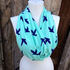 Women's Scarves, Mint Dove Spring Scarf by Phatcatpatch, $15.49
