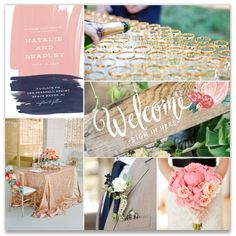 Gold, Navy, Pink Inspiration  Inspiration Board, curated by Rachel at Minted