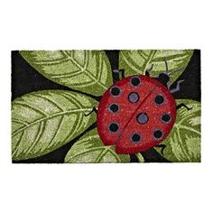 Ladybug Doormat, at The Weed Patch Country Store.