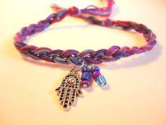 hamsa friendship bracelet unique bracelet by VazJewelryOriginals