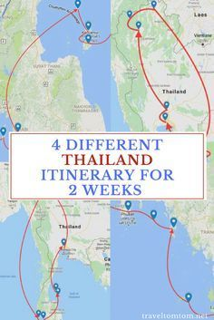 4 Times A Different Thailand Itinerary For 2 Weeks. Around the North and mainly concentrates on Culture, island hopping Thailand route, the best of both worlds and a fourth surprise itinerary that I would also highly suggest. #island #asia #beach #sun #vacation #travel #trip #traveltomtom #thailand #islandhopping #travelblogger #traveltips