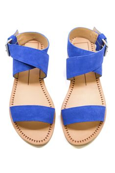 Pair these blue sandals with any of your summer staples for an instant pop of color.