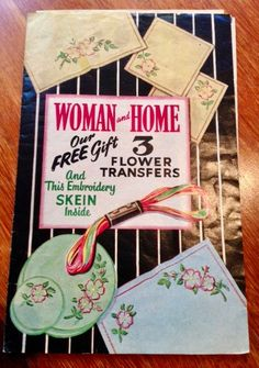 1950s Flower Transfer Kit with Original Transfers by VioletsEmporium on Etsy