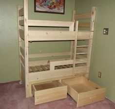 so excited for a cute set of toddler bunk beds for my 2 youngest to share!