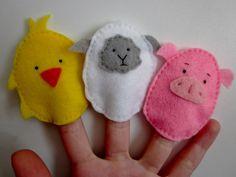 set of 3 chick, lamb, pig