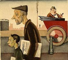 Georg Scholz (German, 1890 - 1945) Newspaper Carrier (Zeitungsträger), 1921