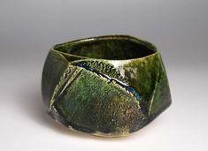 Yumiko Toda, Oribe tea bowl, 戸田優美子 織部茶碗 | ギャラリー桃青