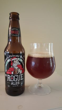 Santa's Private Reserve from Rogue is a 5.3 ABV 65 IBU American Amber / Red.  The appearance is coppery red and the nose caramel malt and pine hop.  The flavor follows, bready cake malts finishing with a strong earthy pine bitter hop.  Essentially it's a hopped up amber but the balance works out very well.  I'm way late in drinking a winter seasonal but it's still fantastic.  Mouthfeel and carbonation are moderate but have a decent creamy note.  Rogue continues to shine.