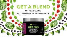 Giv din velafbalancerede kost noget ekstra med Greens Berry! Få en blanding af urter og næringsrige ingredienser i hvert glas Greens Berry!
