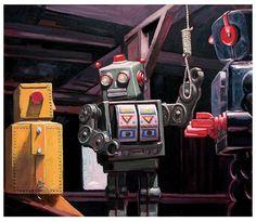 "Eric Joyner.  ""The rope"", 2013 Acrílico y óleo sobre lienzo.  En Apócrifa Art Magazine no. 21 http://apocrifa.com.mx/ciencia-ficcion-apocrifa-21/"