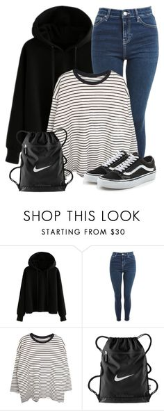 """""""Jeremy Inspired Outfit - The Vampire Diaries / The Originals"""" by fangsandfashion ❤ liked on Polyvore featuring Topshop, NIKE and Vans"""