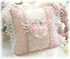 Image 2 of Pink Cherub Square Pillow